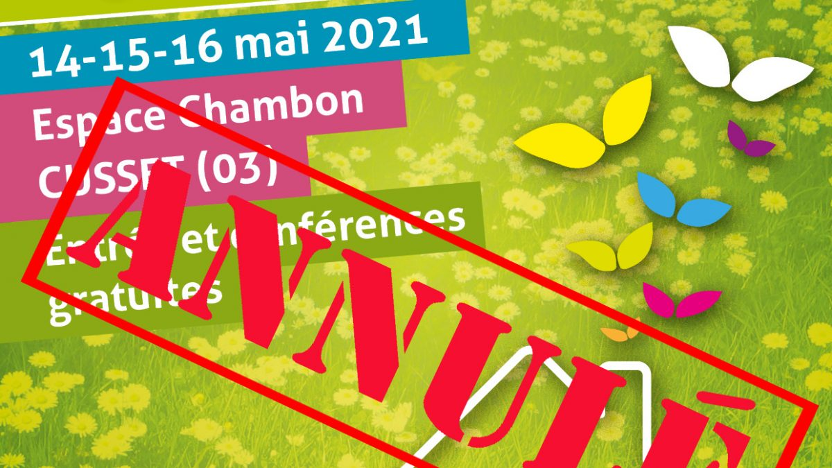 Affiche salon 2021 annulée